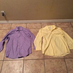 2 Mens Dress Shirts